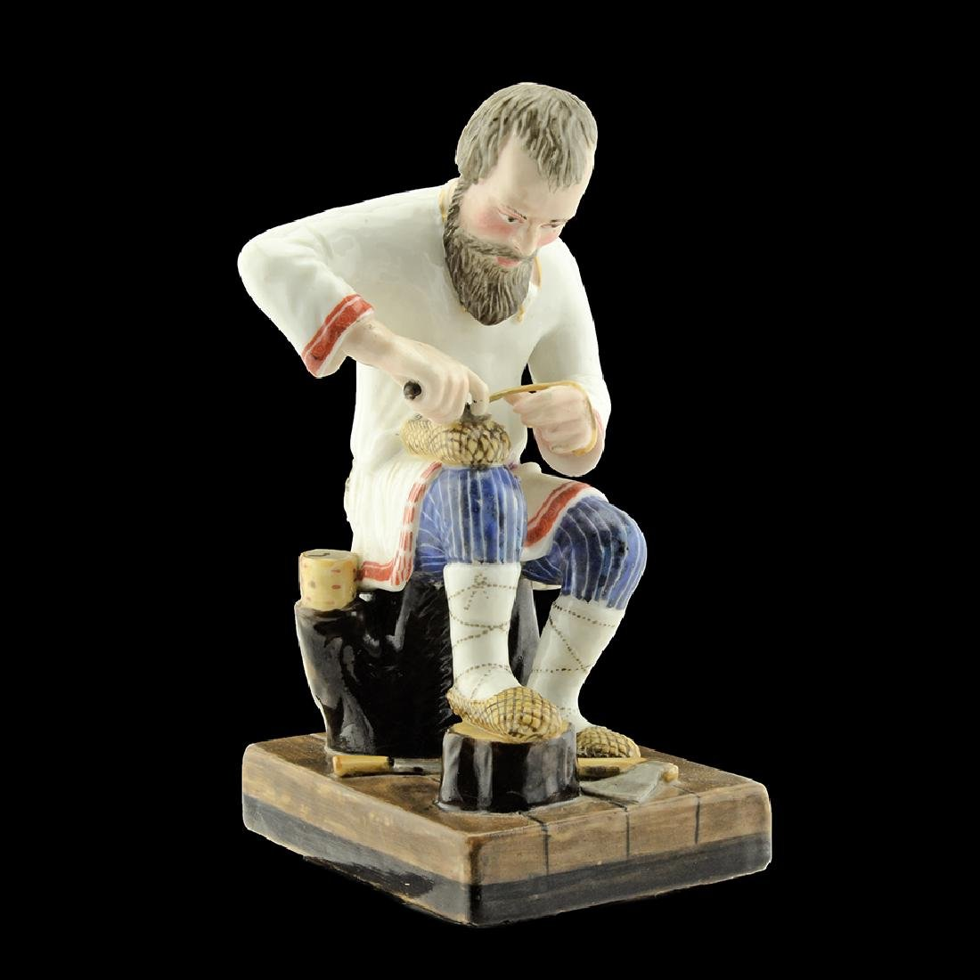 Russian Miklashevsky Factory Porcelain Figure Lapti