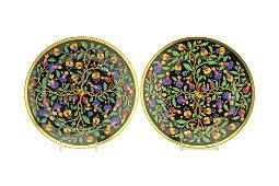 Pr Russian Imperial Porcelain Factory Plates