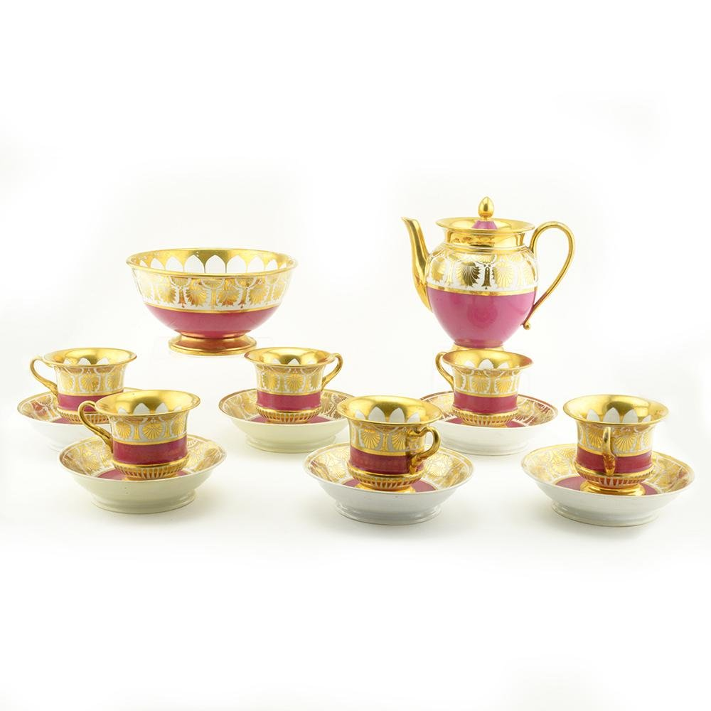 14 Pc Russian Imperial Porcelain Factory Tea Service