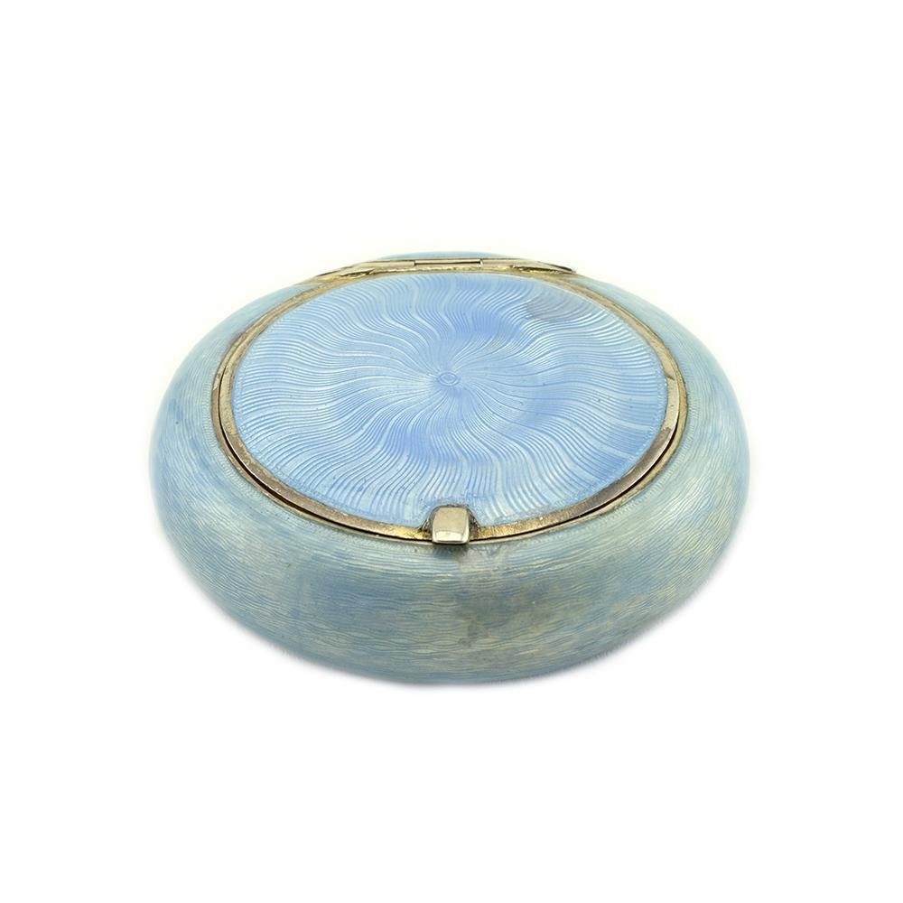 Pankratev Blue Enamel Pill Box