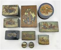 A lot of 10 Russian Lacquer boxes
