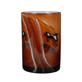DALE CHIHULY 1976 Glass Cylinder Pony - Horse Motif