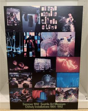 DALE CHIHULY Summer 1992 Installations 1964-1992 Poster
