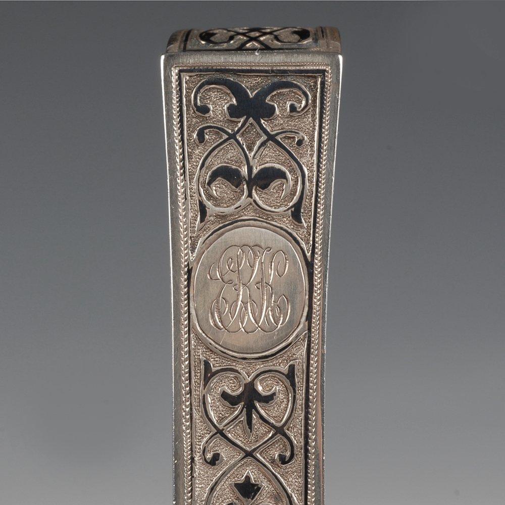A Russian silver niello Semenova kovsh, 1896 - 4