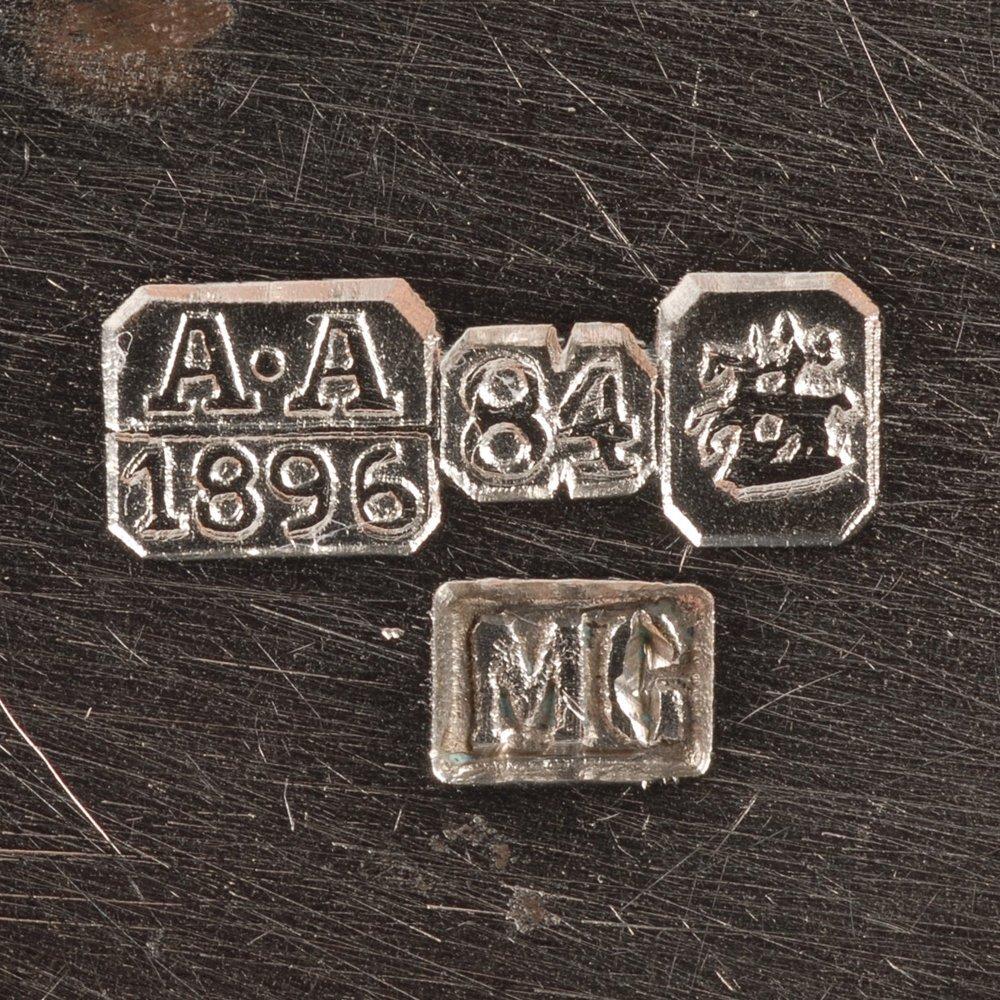 A Russian silver niello Semenova kovsh, 1896 - 5