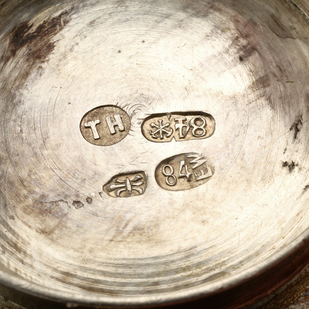 A group of 5 circa 1885 Russian silver open salts - 3
