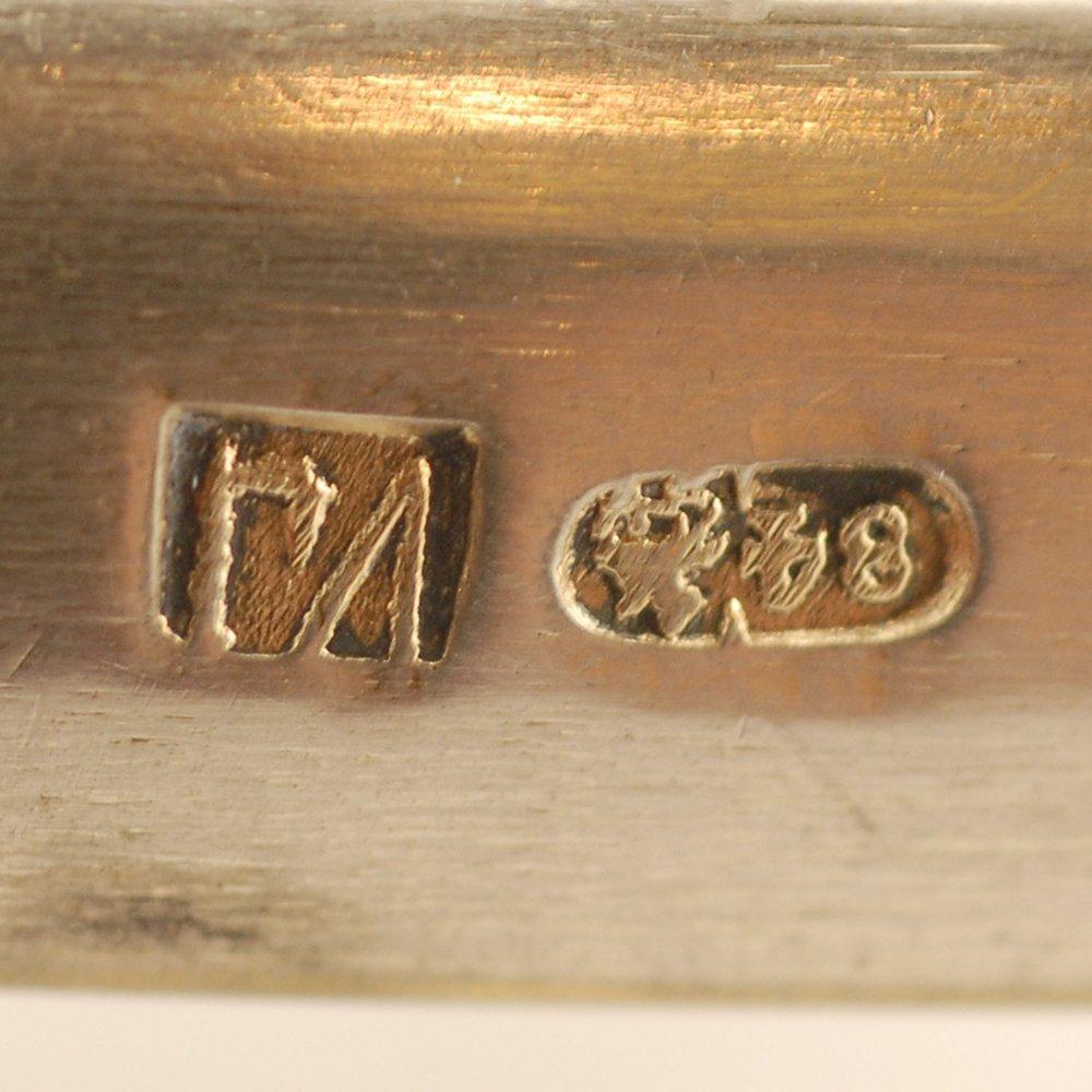 A Russian parcel gilt silver trompe l'oeil basket - 4
