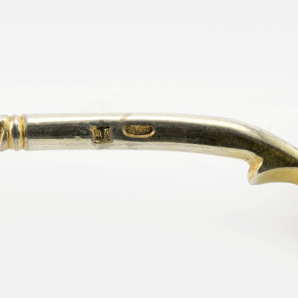 A Russian shaded cloisonné enamel serving spoon - 4