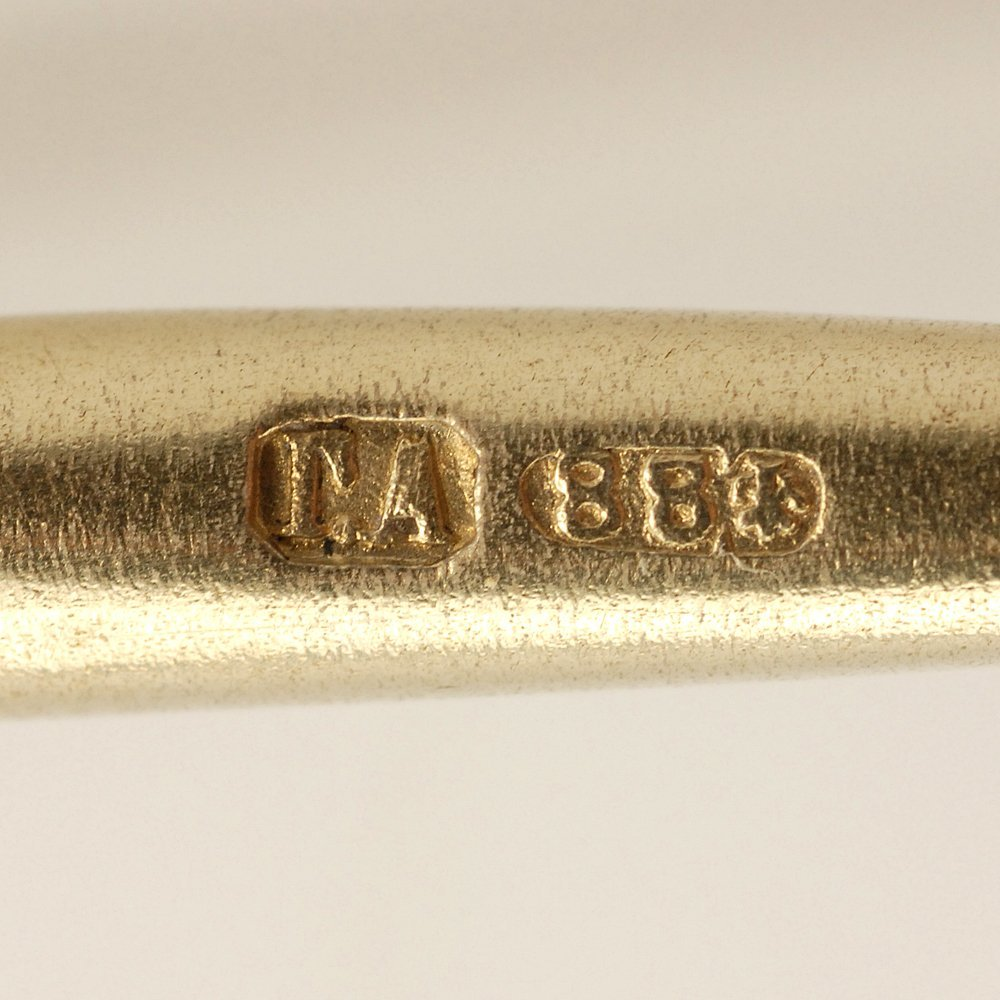A Russian champlevé enamel spoon in original case 1895 - 5