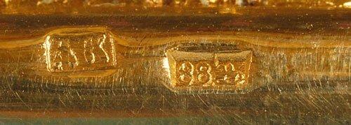 A Kuzmichev plique-à-jour enamel notebook, ca1890 - 6