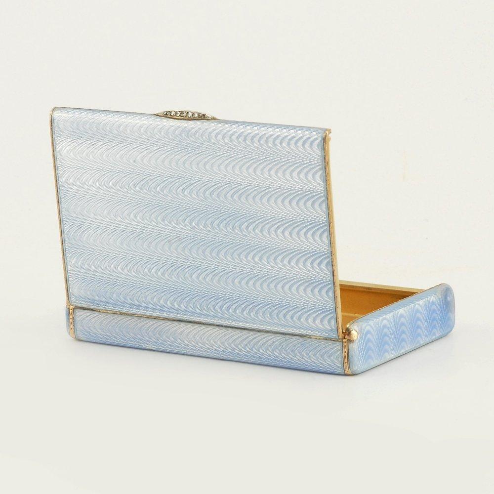 A Fabergé Wigström guilloché enamel card case, c1908-11 - 4