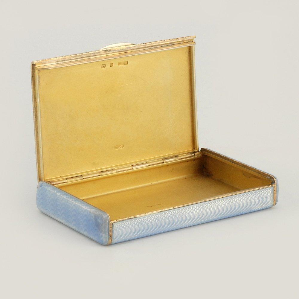 A Fabergé Wigström guilloché enamel card case, c1908-11 - 5