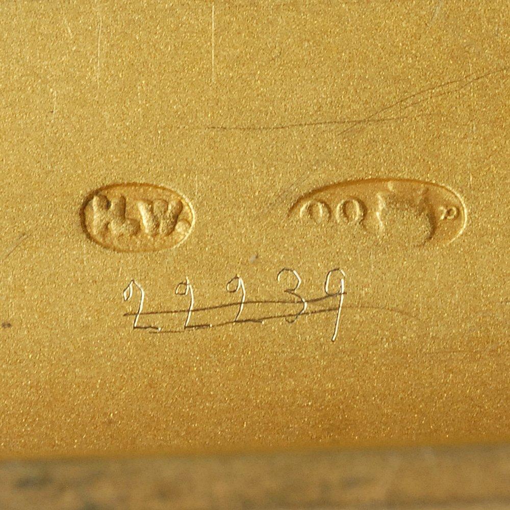 A Fabergé Wigström guilloché enamel card case, c1908-11 - 6