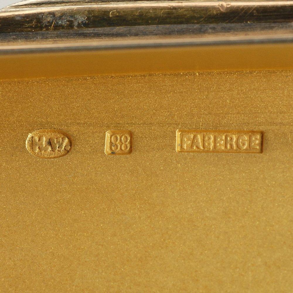 A Fabergé Wigström guilloché enamel card case, c1908-11 - 8