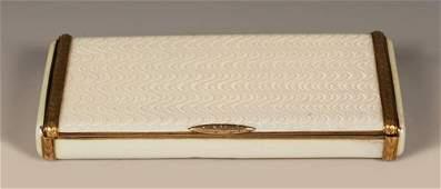 A Fabergé Hollming guilloché enamel case, ca1904-08