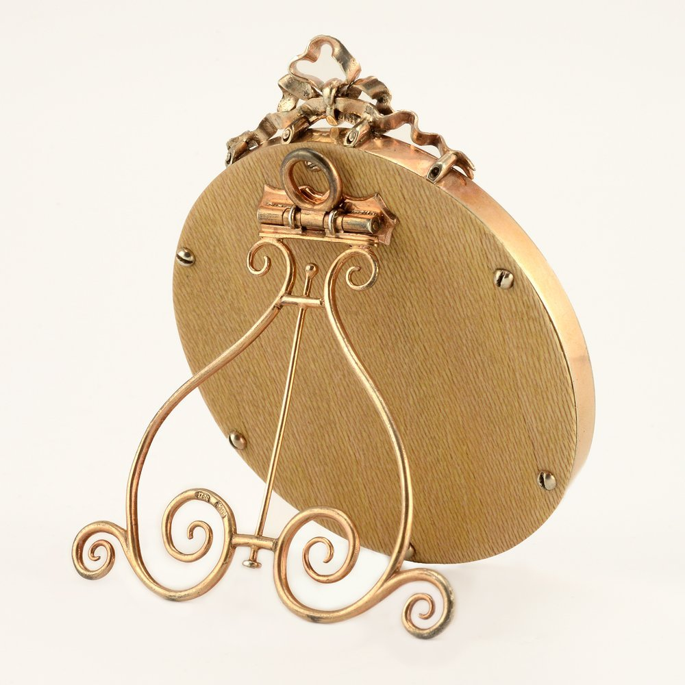 A Fabergé Perchin guilloché enamel frame, ca1890 - 3