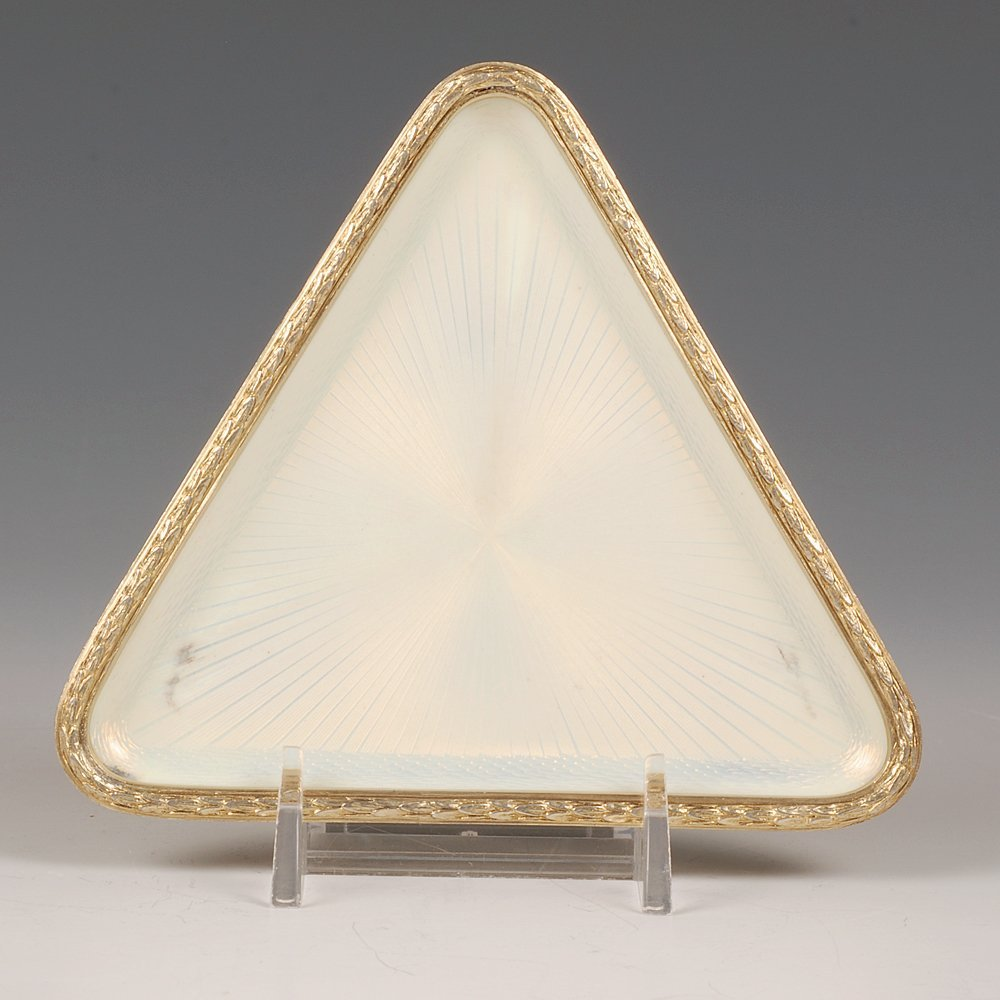 A Fabergé Armfeldt guilloché enamel tray, ca1908-17