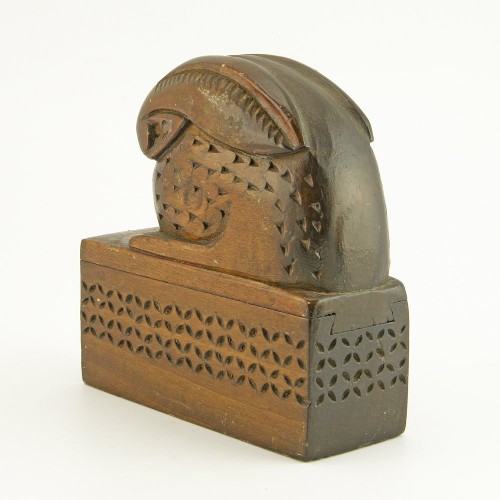 An Antique Pair of Russian Carved Wood Bookends, ca1900 - 5