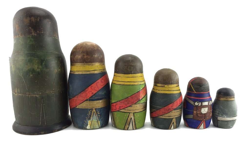 A rare set of Napoleonic nesting dolls, ca1912 - 2