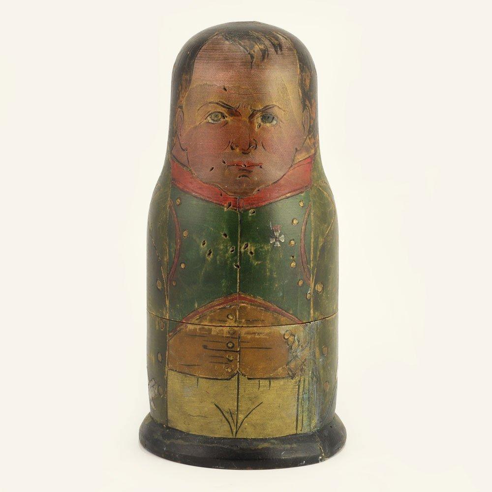 A rare set of Napoleonic nesting dolls, ca1912 - 3