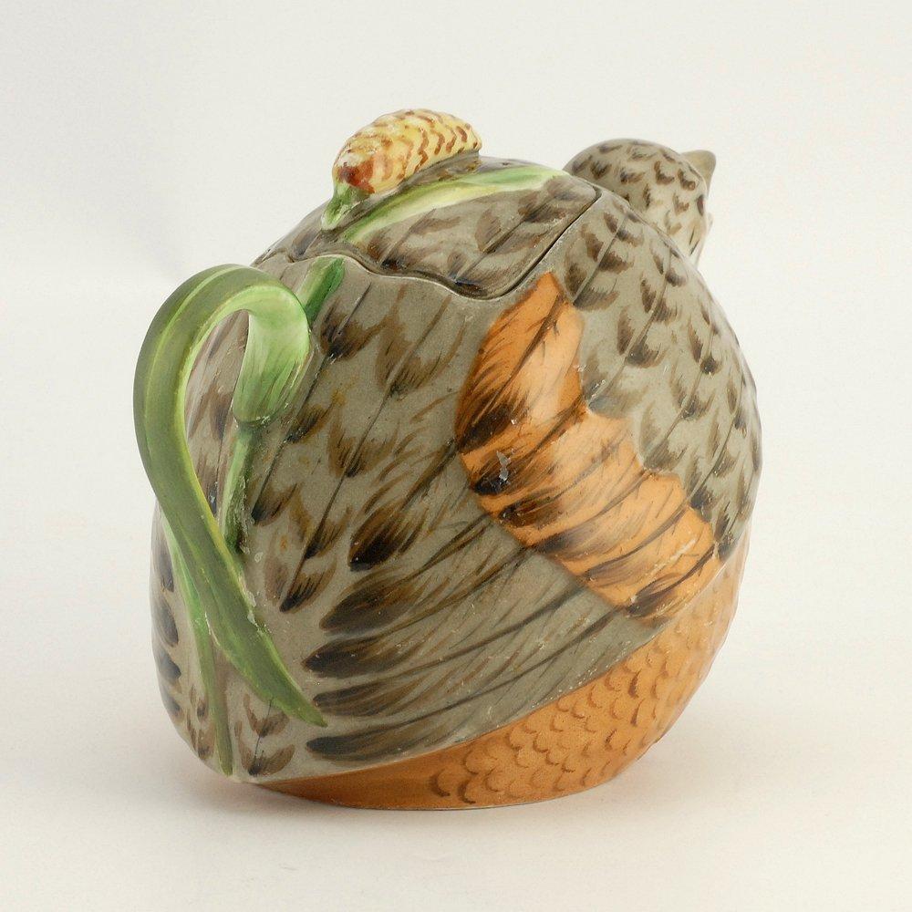 A Russian Gardner bird teapot, ca1880s - 3