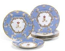 6 Imperial Porcelain Farm Palace Banquet Service plates