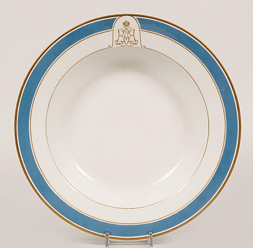 Grand Duchess Xenia Service porcelain soup plate, 1897