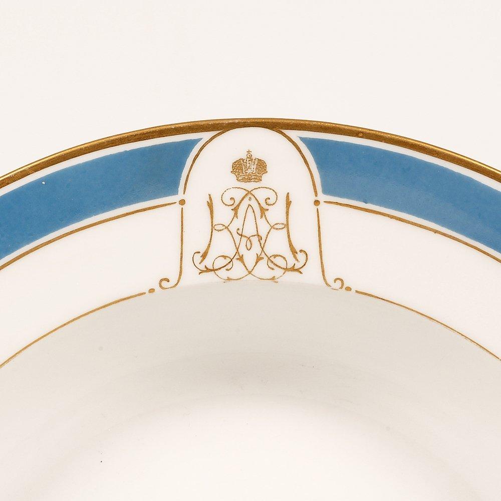 Grand Duchess Xenia Service porcelain soup plate, 1897 - 2