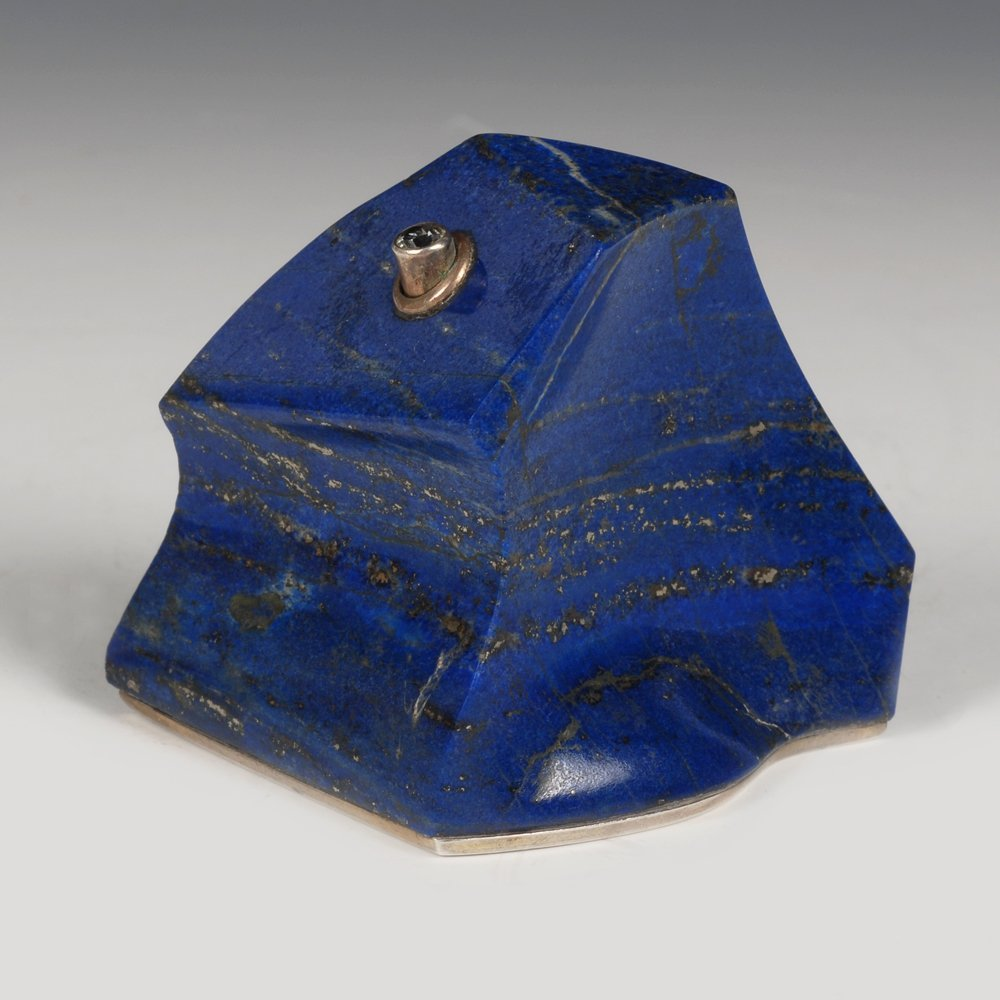 A Russian carved lapis bell push, Sbitnev, ca1908-17