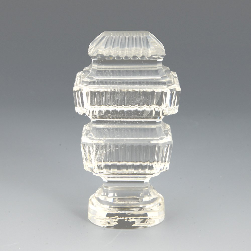 A Russian rock crystal desk seal, 19th century