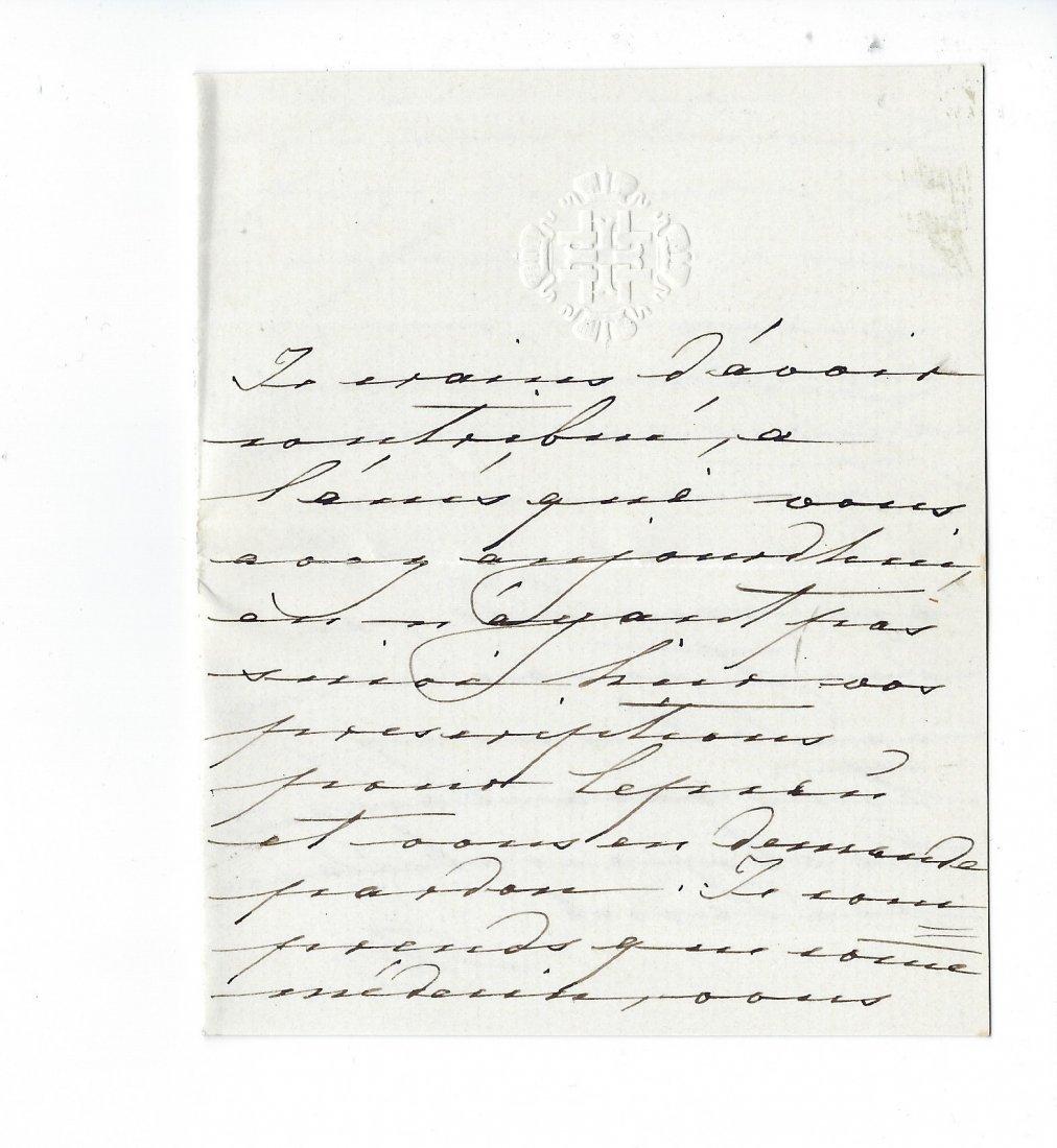 Empress Maria Alexandrovna: An autographed letter