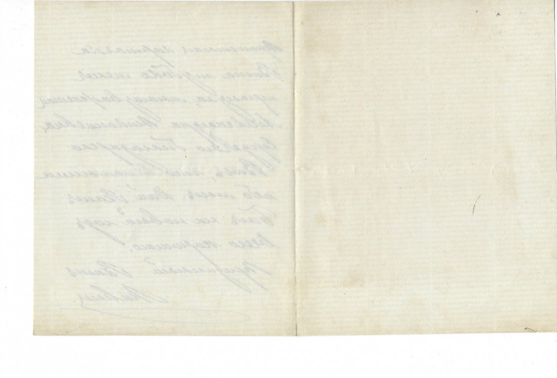Autographed letter of Grand Duke Pavel Alexandrovich - 3