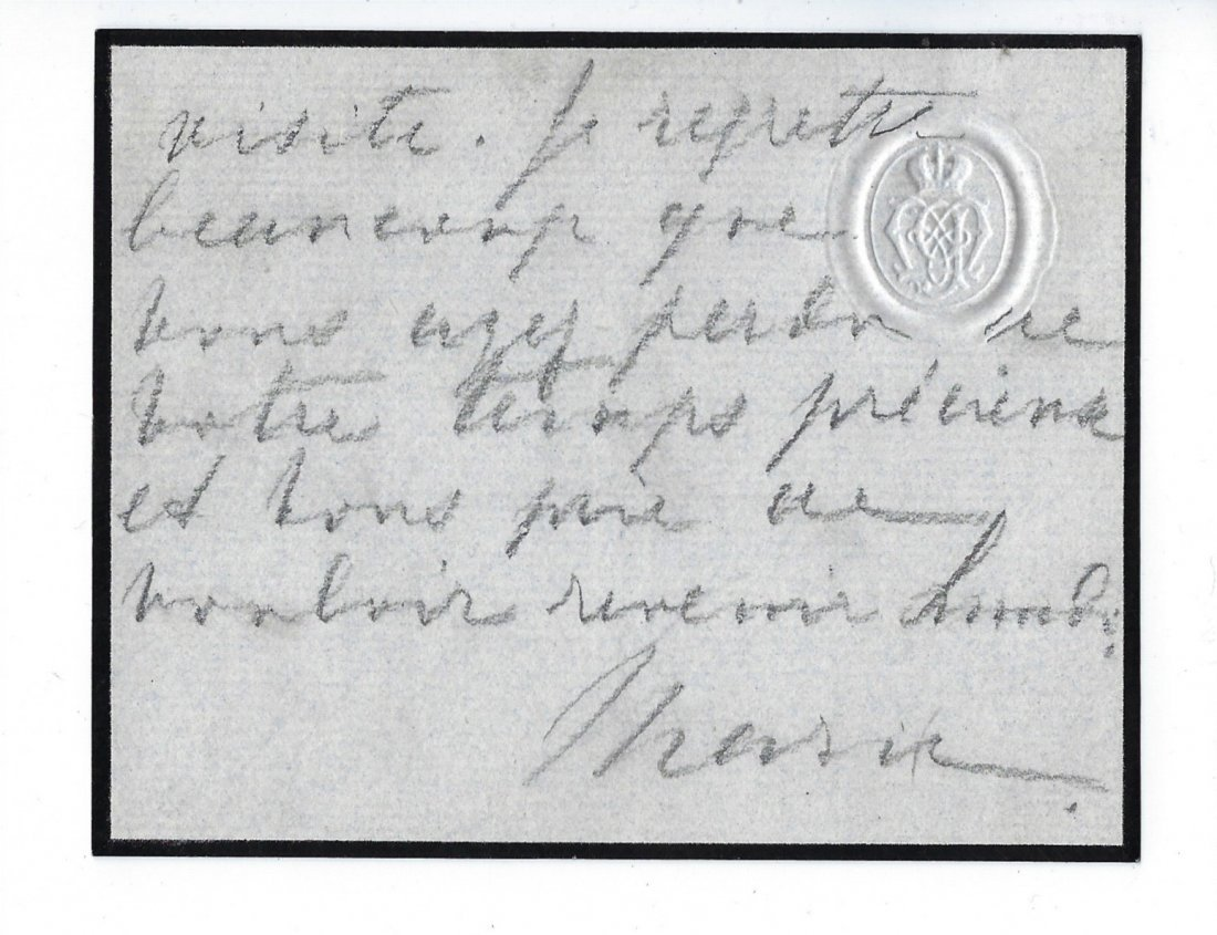 An autographed letter of Grand Duchess Maria Pavlovna - 2