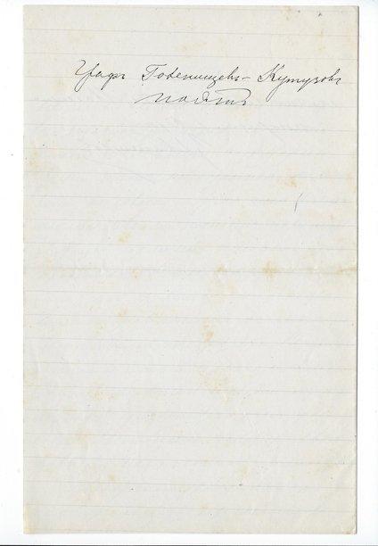 Count A.A. Golenishchev-Kutuzov: An Autographed Letter - 3
