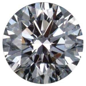 1.70 Carats Round Diamond, Certified as I-SI1 EGLUSA