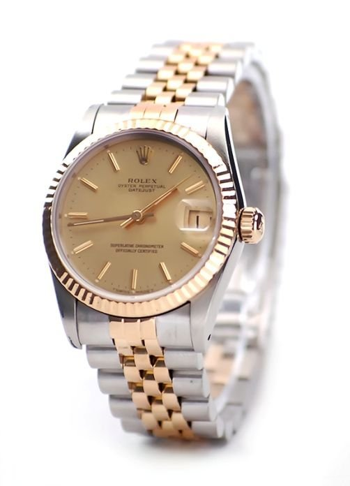 Preowned Rolex Datejust 68273 with Champagne Dial