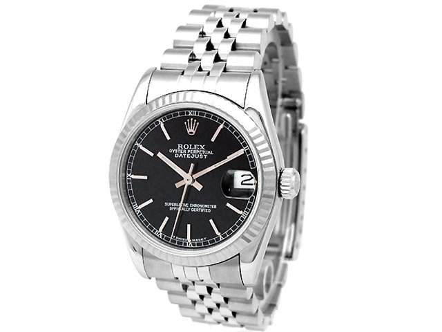 Preowned Rolex Datejust 78274 with black Dial