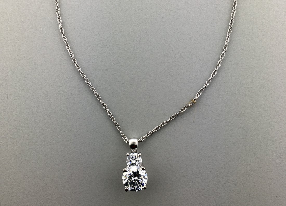 Sterling Silver Pendant with Round Shaped CZ