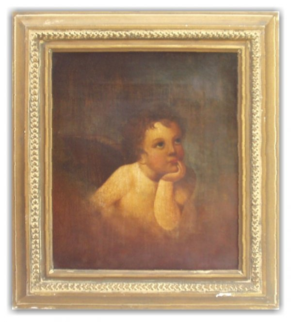 13: ANTIQUE OIL/CANVAS (19th Cent Amer)