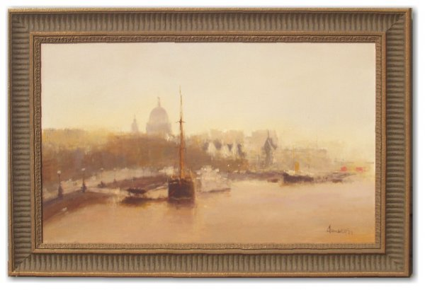 17: AUMULLO OIL/CANVAS (European 20th Cent)