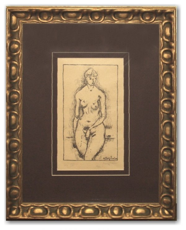 24: RUDOLPH BAUER S/N LITHO (German 1889-1953)