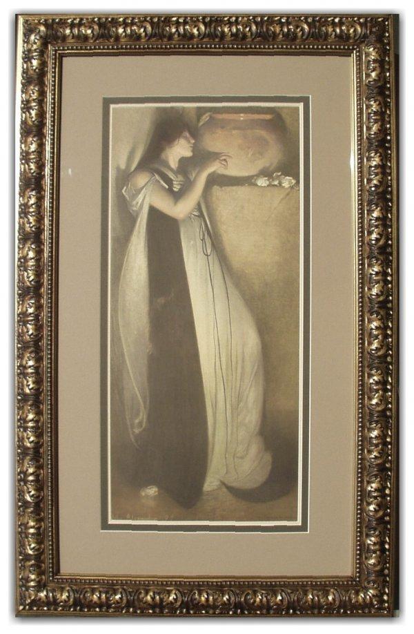 1: JOHN WHITE ALEXANDER STONE LITHO (Amer 1856-1915)