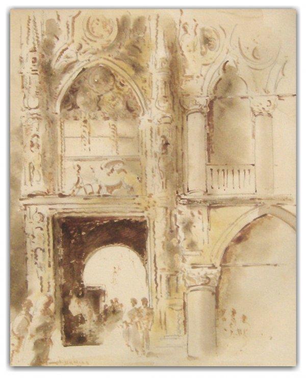 15: ANTIMO BENEDUCE INK WASH (Italian b.1900)