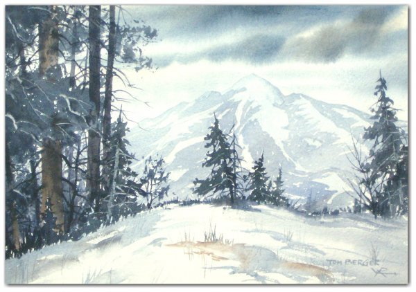 16: TOM BERGER WATERCOLOR (Amer 20th Cent)