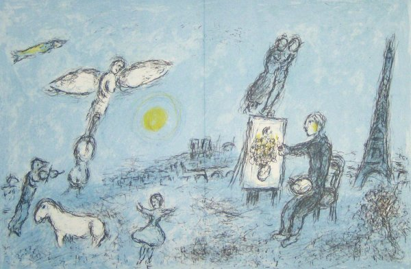 26: MARC CHAGALL  LITHO (French/Russian 1887-1985)