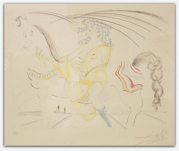 43: SALVADOR DALI ENGRAVING (Spanish 1904-1989)