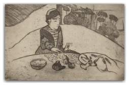 60: PAUL GAUGUIN ETCHING (French 1843-1903)