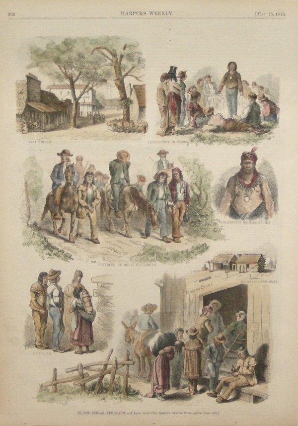 68: HARPERS WEEKLY 1875 ENGRAVING