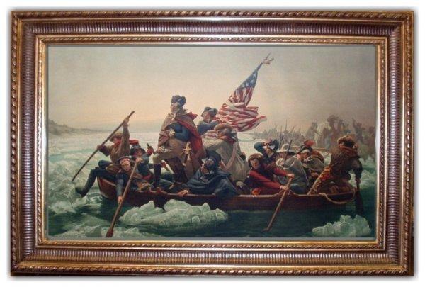 94: EMMANUEL LEUTZ STONE LITHO (American 1816-1868)