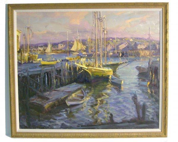1002: ROBERT C. GRUPPE OIL/CANVAS (Amer b.1944)